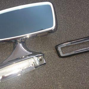 Chromen trapezium spiegel rechts voor BMW e9 e3 e12 02 Neue klasse