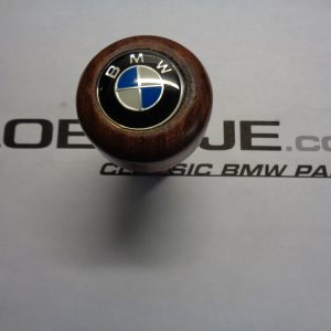 Pookknop hout nieuw met BMW logo klikbaar, opdrukbaar