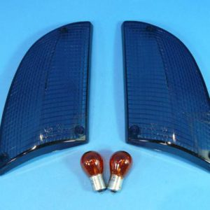 Set zwarte / smoke knipperlicht glazen BMW e24